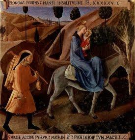 Huida a Egipto. Fra Angelico, 1450