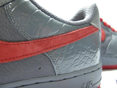 nike air force 1 low premium grey red 2009 release 4 Air Force 1 Premiums   2009