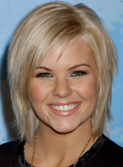 Long bangs hairstyle is modern celebrity short hairstyles for women.