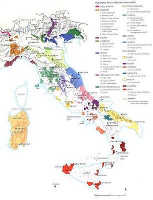 We Study Wine Map Of Italian Wine Regions - Map of italy regions