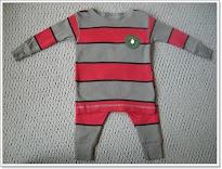 Red Grey Big Stripes