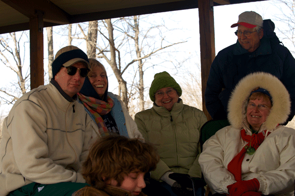 Matthew Riccetti, Curg, Diane, Joni, Pat and Jerry at the Bruewer Big Year Winter Picnicn (2009)