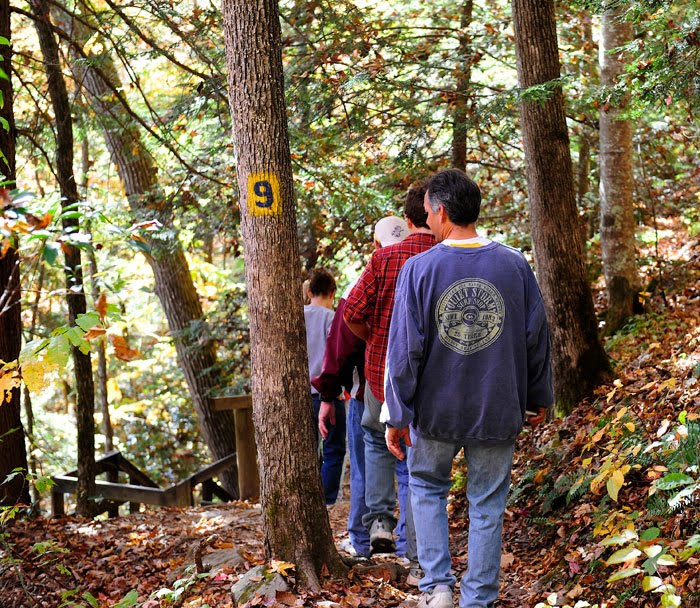 Matthew Riccetti, Rick Riccetti, and Kelly Riccetti at Cumber Falls State Park in Kentucky.