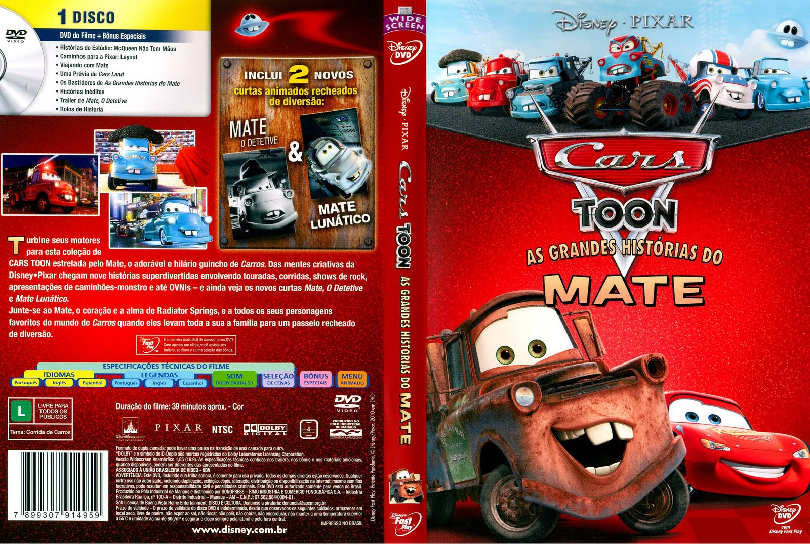 Cars Toon As Grandes Histórias Do Mate