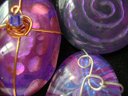 reverse painted glass pendants