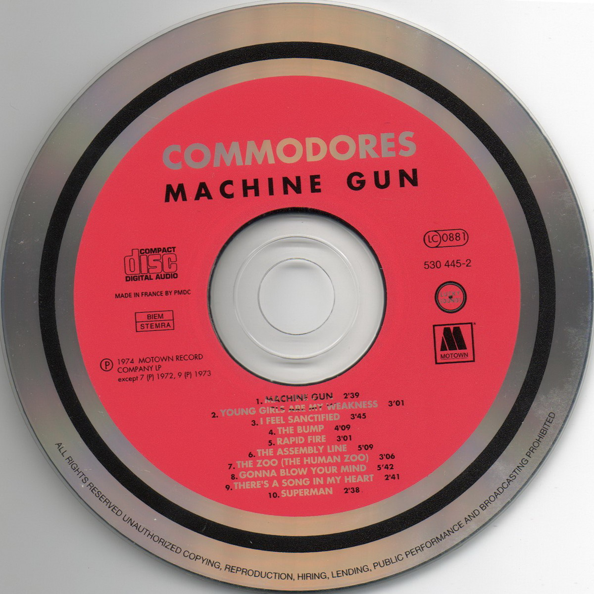 the commodores machine gun