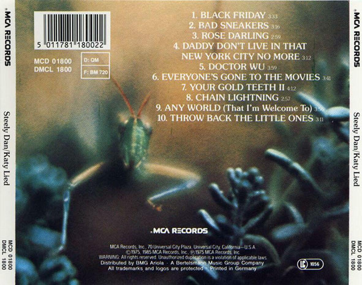 Musicotherapia: Steely Dan - Katy Lied (1975)