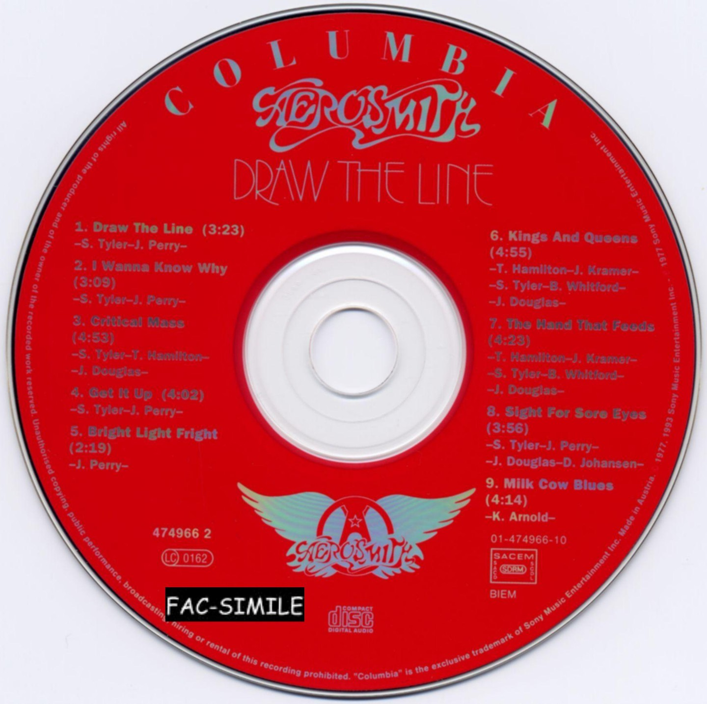 Aerosmith Draw The Line
