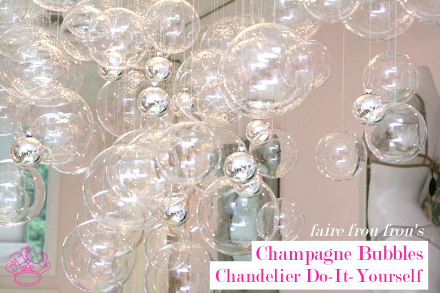 Bubble chandelier diy frou frou fashionista luxury lingerie blog bubble chandelier diy aloadofball Images