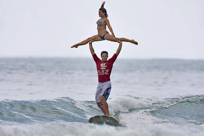 Rico Leroy and Sarah Burel - Noosa Surfing Festival