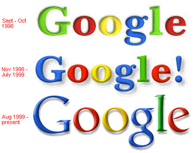 Google - Evolution of Logos & Brand