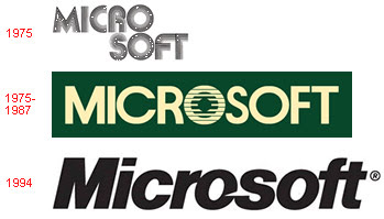 Microsoft - Evolution of Logos & Brand