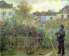 Monet pintando ao ar livre