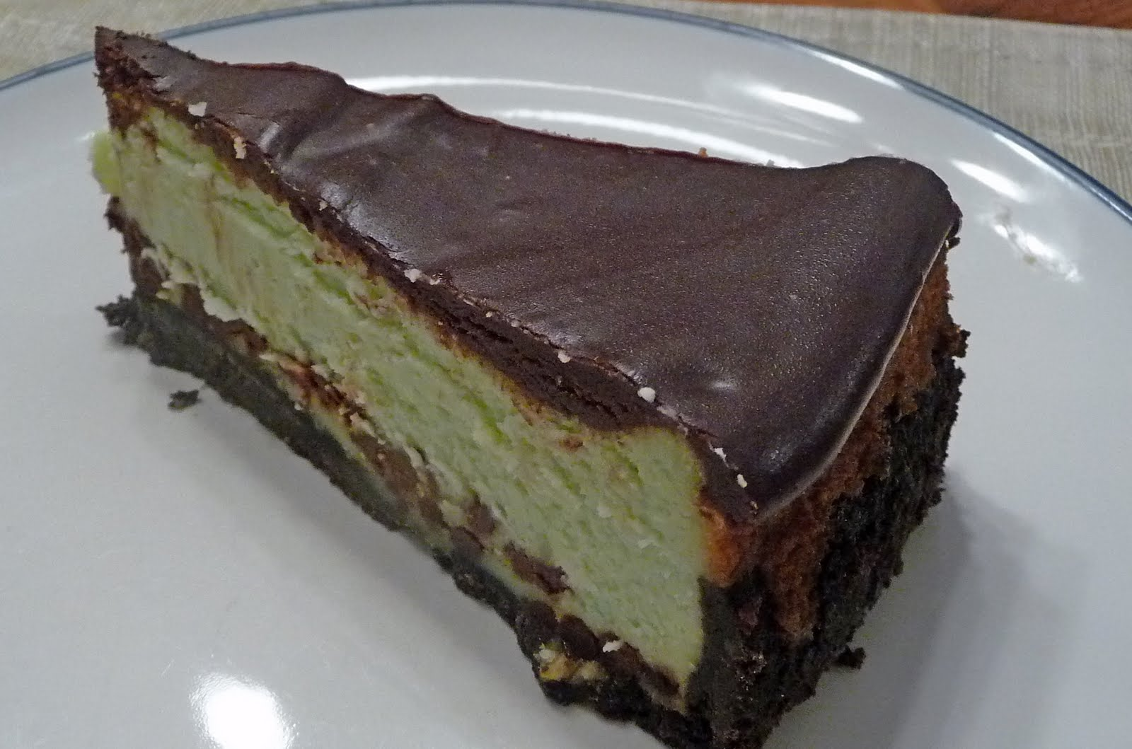 Family, Food, and Fun: Mint Chocolate Chip Cheesecake