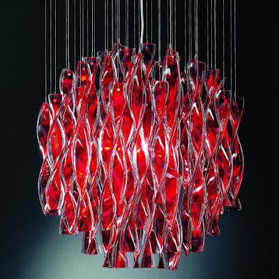 Moms Turf Red Murano Glass Chandeliers