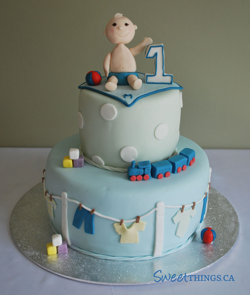 Birthday Cake Design For A Baby Boy : SweetThings: First Birthday or was it?
