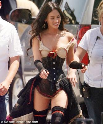 hot Megan Fox's cleavage in hot dress