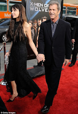 Mel Gibson With New Love Oksana At Premiere of  Wolverine