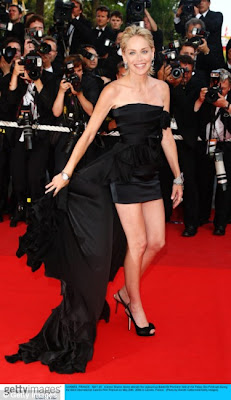 Sharon Stone hit the red carpet in Cannes in hot skirt