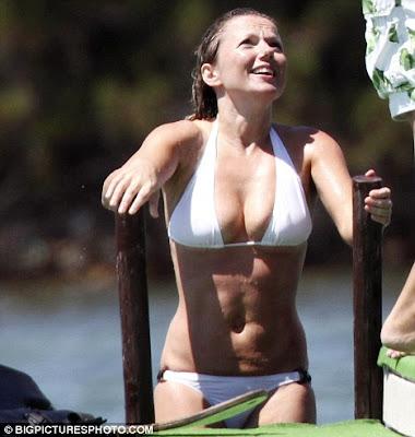 Geri Halliwell Flaunts Her Killer Curves In Sexy white Bikini