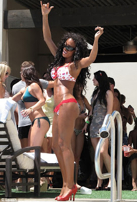 Mel B Celebrates Her Birthday In Hot Bikini with a Vegas Pool Party
