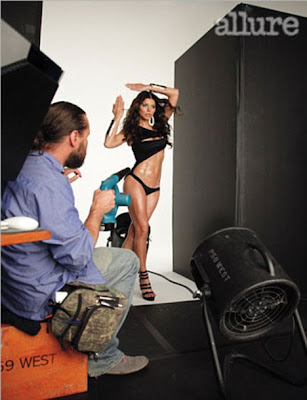 Fergie Strips for Sizzling Hot Allure Bikini Shoot