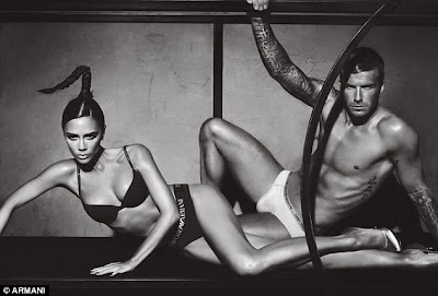 David & Victoria Beckham New Sizzling Hot Armani Underwear Ad