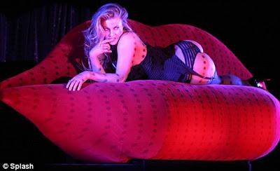 Carmen Electra topless in burlesque Vegas show