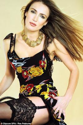 hot Patrizua D'Addario pictured in a calendar shoot