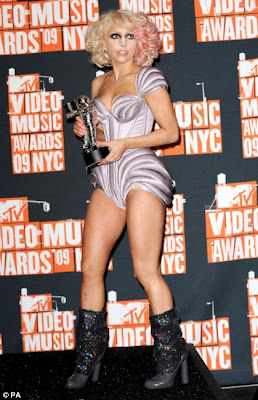 Lady GaGa Sizzles in Different Outrageous Outfits at MTV VMAs