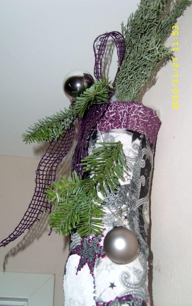 Pader deko perle weihnachtsdeko 2010 nikolausstiefel aus gummistiefel teil 3 - Weihnachtsdeko lila ...