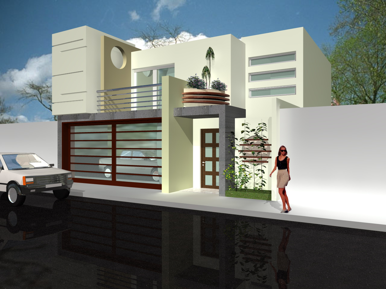 Share bienes raices casas en venta tipologias for Cocheras minimalistas