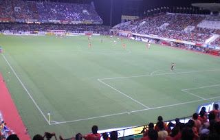 Standing room only at a packed Nihondaira Stadium.