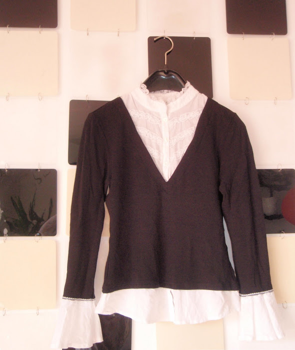 Bluzita office, camasa cu bluza pe deasupra, 30 lei,VANDUTA Ana