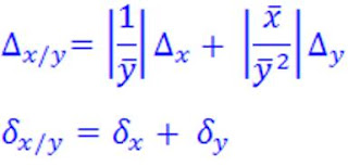 Incertidumbre Relativa Porcentual Formula