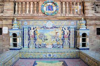 Plaza de España, Sevilla - Azulejo de Badajoz