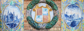 Plaza de España, Sevilla - Azulejo de Baleares (Detalles)