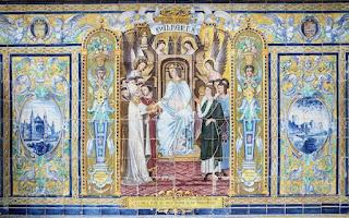 Plaza de España, Sevilla - Azulejo de Baleares (Motivo central)