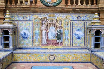 Plaza de España, Sevilla - Azulejo de Baleares