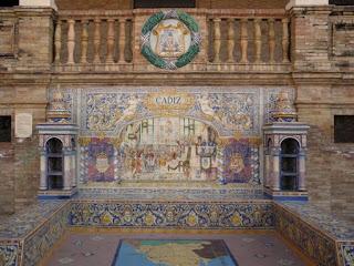 Plaza de España, Sevilla - Azulejo de Cádiz