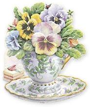 pansey teacup