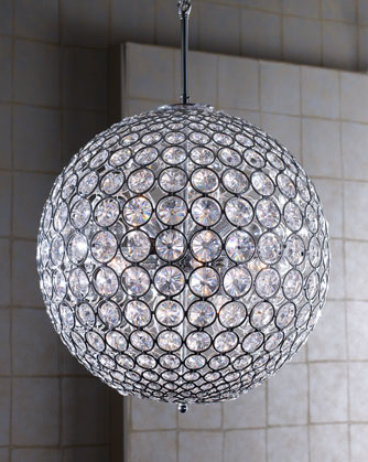 Left coast luxe crystal ball chandelier mozeypictures Images