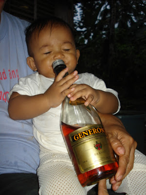 ..when babies learn how to drink.