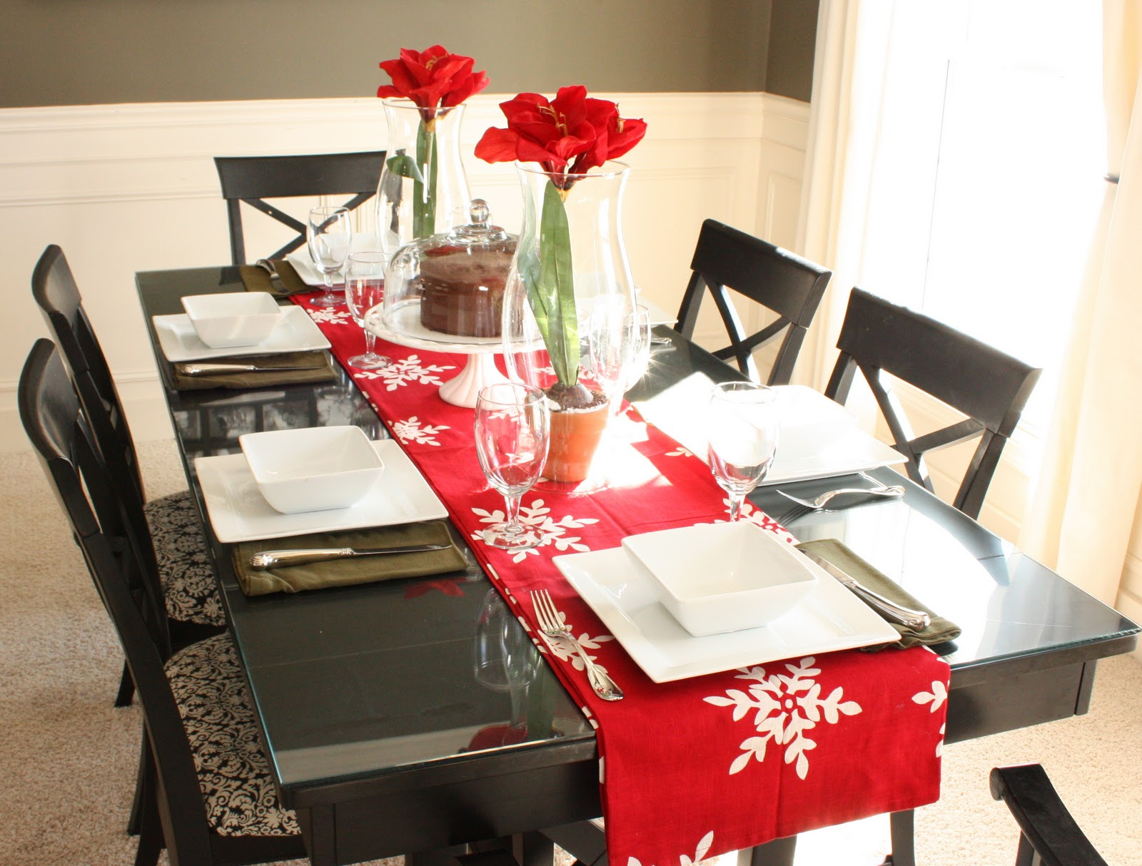 The yellow cape cod valentines dining table shameless admissions and updates - Dining room table decor ...