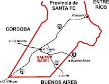 Mapa del sur de Santa Fe