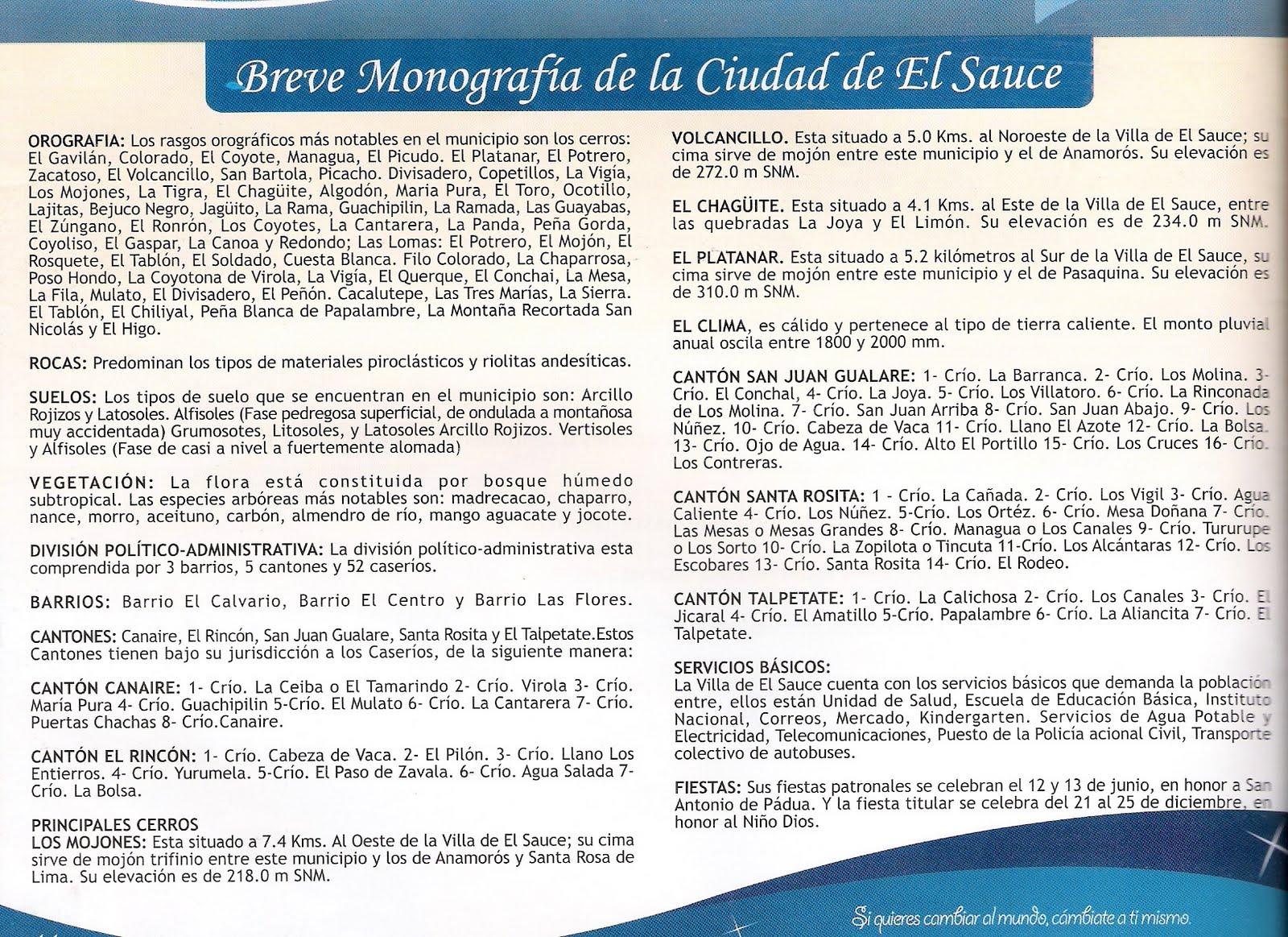 Historia (Monografia de El Sauce)