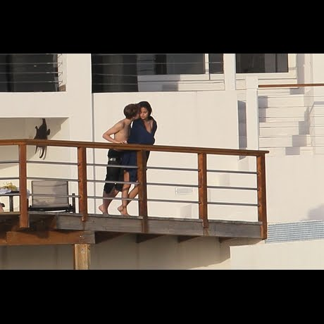 Selena Gomez and Justin Bieber share a romantic kiss aboard a private yacht