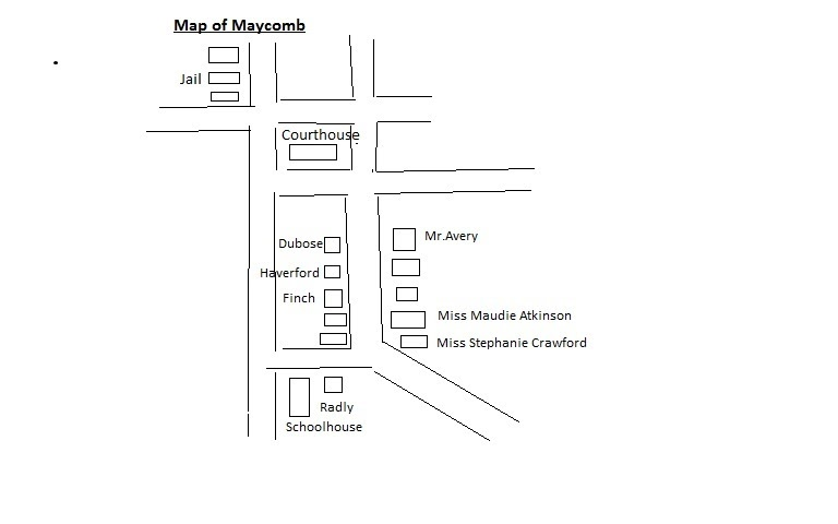 My future depends on my actions...: Maycomb Map (Schoolwork)