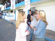 Valéria Rodrigues Sendo Entrevistada pela Jornalista Kelly Caldas da Rede Record de Porto Alegre-RS