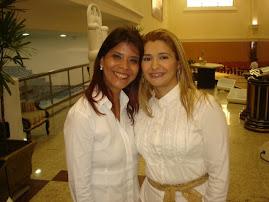 Valéria Rodrigues e sua amiga Cantora Leonor
